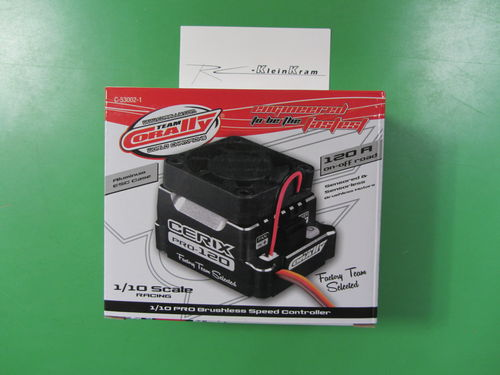"Corally 53002-1 - Cerix PRO 120 ""Racing Factory"" - 2-3S Brushless Speed Controller - BLACK"