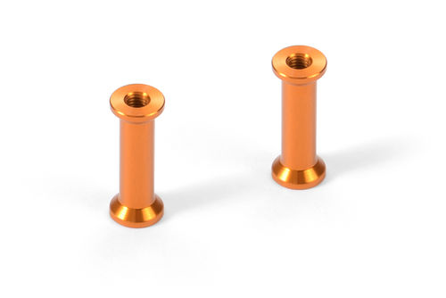 XRAY 376365-O - X12 2018 - Alu Mount 18.0mm for Servo Mount - ORANGE (2 pcs)