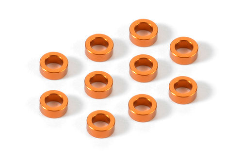 XRAY 303140-O - X10 2018 - Alu Shims - 3x5x2.0mm - ORANGE (10 Stück)