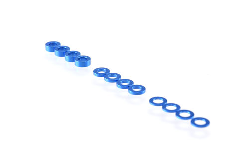 Ruddog Products 0110-BLU - 3mm Shims Set (0.5 / 1.0 / 2.0mm) blau