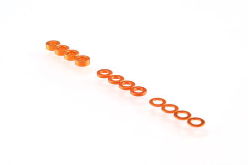 Ruddog Products 0110-ORA - 3mm Shims Set (0.5 / 1.0 / 2.0mm) orange
