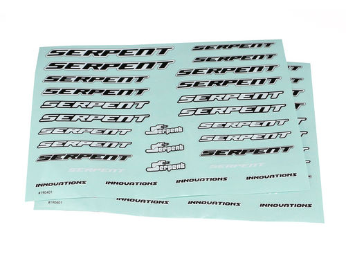 "Serpent 190401 - Decal sheet ""Serpent"" - Medium - Black/Wight - (2pcs)"