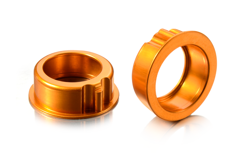 XRAY 302063 - T4 2018 - Alu Bearing Hubs - ORANGE (2 pcs)