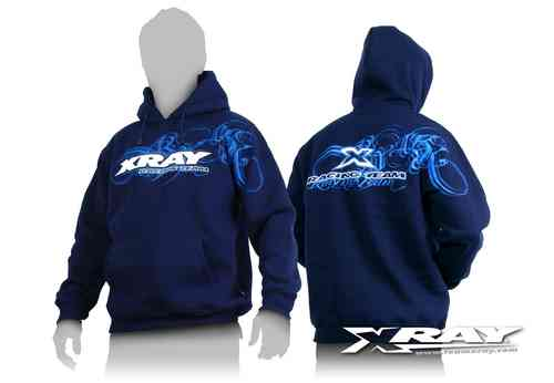 XRAY 395500S - Team Hooded Sweater - Size S - blue