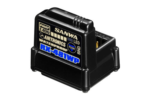 SANWA 107A41311A - RX-481WP Receiver FH3/FH4 4-channel with integrated antenna - waterproof