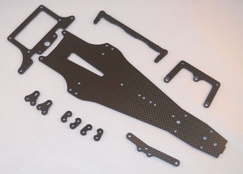 FENIX OPT004-CF-S - Serpent F110 SF2 Carbon Chassis - Rattlesnake Conversion Kit - SLIM
