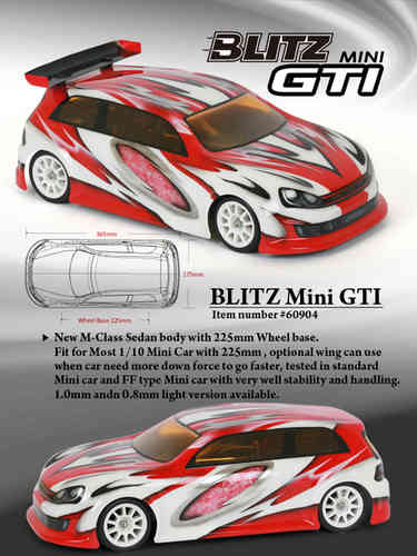 BLITZ 60904-05 - GTI - M-Chassis 225WB Body - ULTRA LIGHTWEIGHT 0.5
