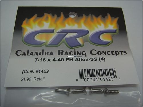 CRC 1429 - CK25 - Flathead Screws - 7/16 x 4-40 (4 pcs)