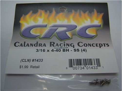 CRC 1433 - CK25 - Buttonhead Screws - 3/16 x 4-40 (4 pcs)