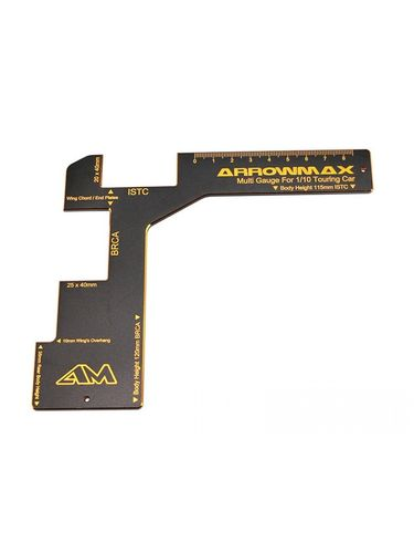 Arrowmax 171035 - Regulation Gauge - Touring Car 1:10 - Black Golden