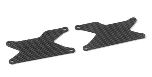 XRAY 353191 - XB8 2018 - Graphite Rear Lower Arme Plate (2 pcs)