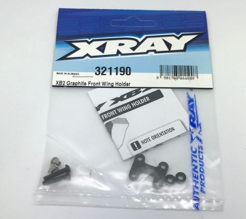 XRAY 321190 - XB2 - Graphite Front Wing Holder