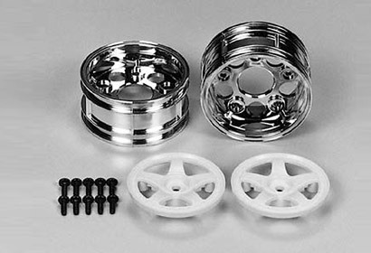 Tamiya 50673 - Touring Car Rims - 30mm - chrome / white - Toyota Supra (2 pcs)