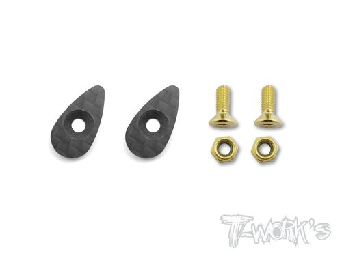 T-Work's TA-119 - Graphite Drop Type Wing Washer (2 pcs)