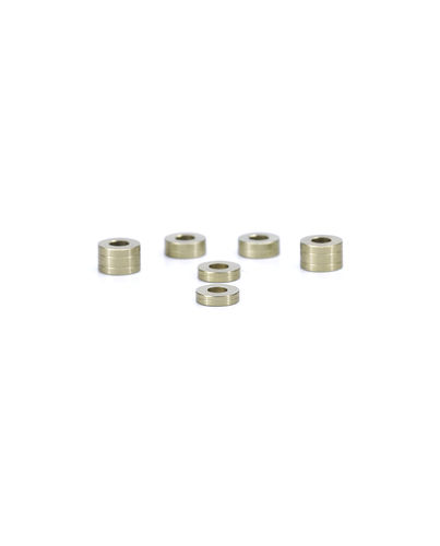 PSM PS01777 - Kyosho MP9 TKI4 - Spacer/Shim Set - Bright Gold - Alu - (6pcs)