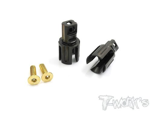 T-Work's TE-197-X - TWIN Spring Steel Spool Outdrives for XRAY T2 / T3 / T4 (2 pcs)