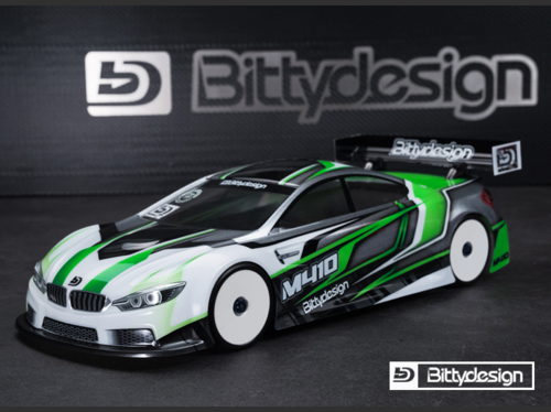 BittyDesign - M410 1:10 Tourenwagen Karosserie - 190mm - Team Associated TC7.1 - Pre-Cut
