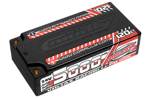 Corally 49505 - VOLTAX 120C LiPo Battery - 5000mAh - 7.4V - Shorty 2S