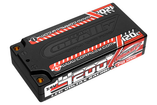 Corally 49500 - VOLTAX 120C LiPo Battery - 4200mAh - 7.4V - Shorty 2S