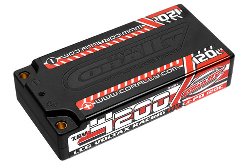 Corally 49600 - VOLTAX 120C HV LiPo Battery - 4200mAh - 7.6V - Shorty 2S