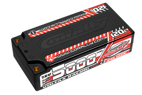 Corally 49605 - VOLTAX 120C HV LiPo Battery - 5000mAh - 7.6V - Shorty 2S
