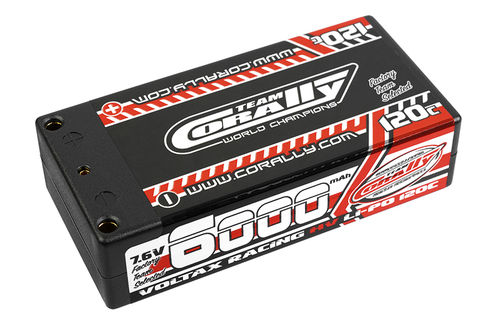 Corally 49606 - VOLTAX 120C HV LiPo Battery - 6000mAh - 7.6V - Shorty 2S
