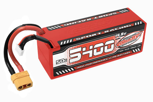 Corally 49429 - Sport Racing 50C LiPo Akku - 5400mAh - 14.8V - Stick 4S