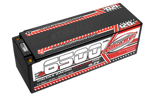 Corally 49630 - VOLTAX 120C HV LiPo Battery - 6500mAh - 15.2V - Stick 4S