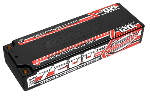 Corally 49520 - VOLTAX 120C LiPo Battery - 7200mAh - 7.4V - Stick 2S