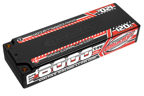 Corally 49523 - VOLTAX 120C LiPo Battery - 8000mAh - 7.4V - Stick 2S