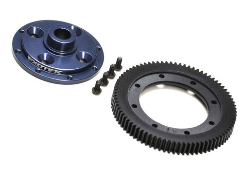 Exotek 1798 - Tekno RC EB410 - 81 Spur Gear and Mounting Plate