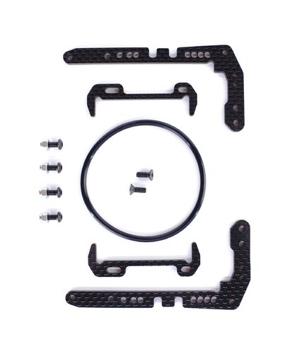 PSM PS02033 - Team Associated F6 - O-Ring Akku Halter Set - Carbon