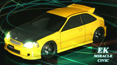 ABC 66086 - Honda Civic Type R EK9 - 1:10 Touring - Body Set