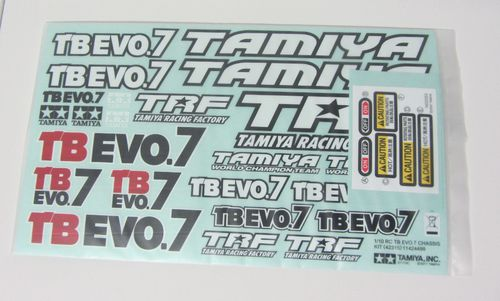 Tamiya 1424499 - TB Evo 7 - Decal Sheet