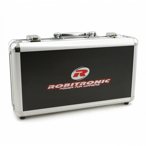 Robitronic R14025 - Battery Suitcase for 8 Batteries - Large - Alu
