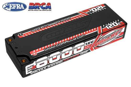 Corally 49623 - VOLTAX 120C HV LiPo Battery - 8000mAh - 7.6V - Stick 2S - 4mm