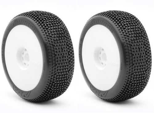 AKA 14007WRW - Impact - ULTRA-SOFT - 1:8 Buggy Pre-Mounted Tires (2 pcs)
