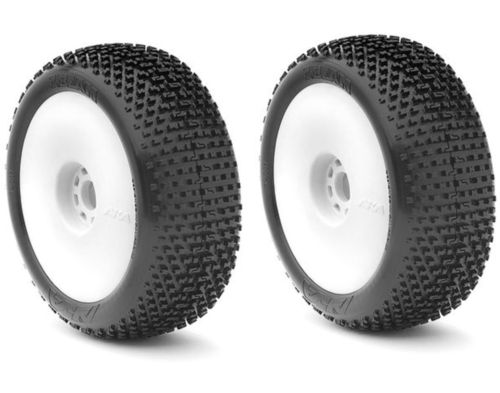 AKA 14001WRW - I-Beam - ULTRA-SOFT - 1:8 Buggy Pre-Mounted Tires (2 pcs)