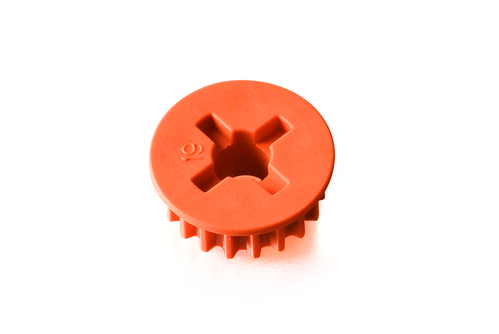 XRAY 335859-O - NT1 - Low Friction Composite Belt Pulley Side 19T - GRAPHITE ORANGE