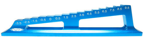 Yeah Racing YT-0071HBU - Alu Droop Gauge -3.5mm to 9.5mm - BLUE
