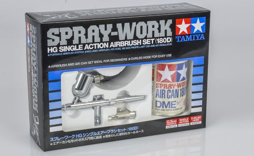 Tamiya 74525 - SPRAY-WORK - Starter Set - HG Airbrush Pistole - Single Action