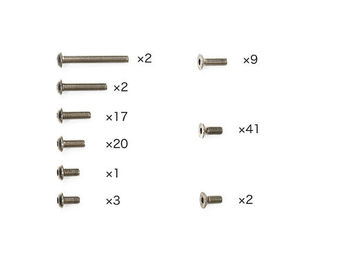 Tamiya 47377 - TB-05 - Titan Screw Set (97 parts)