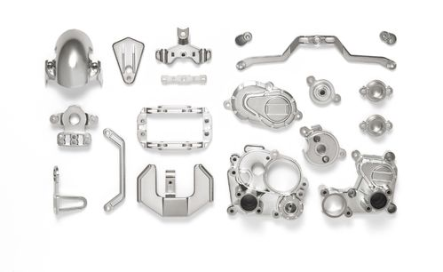 Tamiya 54822 - T3-01 - C-Parts - Chassis - SEMI-GLOSS CHROME PLATED