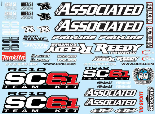 Team Associated 71131 - SC6.1 - Dekorbogen