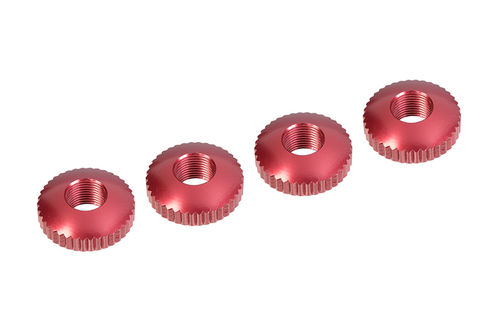 Corally 00100-053 - FSX-10 - Alu Body Mount Cambered Nuts (4 pcs)