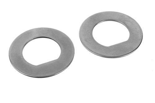 Corally 00100-073 - FSX-10 - D-Lock Diff Plate - Carbon Steel (2 pcs)