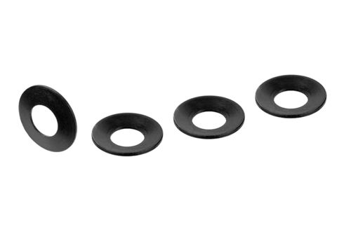 Corally 00100-075 - FSX-10 - Belleville Washer - Steel (4 pcs)