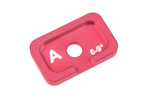 Corally 00120-036 - FSX-10 - Alu Caster Adjustment Plate - A - 6° - 9° (1 pc)