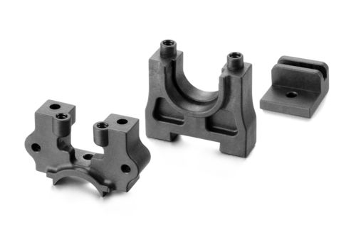 XRAY 354010-G - XB8 2018 - Center Diff Mounting Plate Set - GRAPHITE