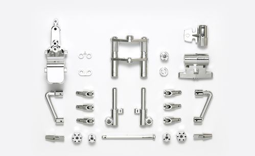 Tamiya 54829 - T3-01 - C-Parts - Front Suspension - SEMI-GLOSS CHROME PLATED